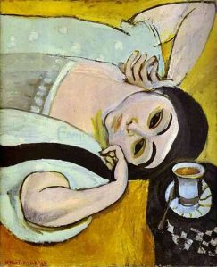 Laurette S Head With A Coffee Cup by Henri Matisse